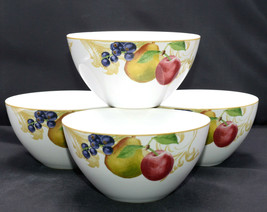 Lenox Garden Mural * 4 Soup / Cereal Bowls * Fruit & Leaves, Exc! - $23.99