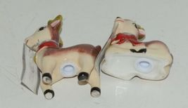 Ganz MX177530 Small Deer Painted Glass Salt Pepper Shakers Red Bow image 5