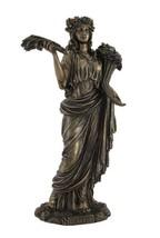 Veronese Greek Goddess of Harvest Demeter Bronzed Statue - $77.67