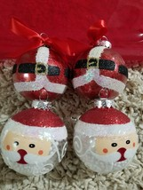 4 pcs Santa Claus Christmas Ornament Ball Snowdome Rare.. - $9.89