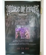 """CRADLE OF FILTH """"MIDIAN"""" - SIGNED OFFICIAL BAND POSTER - FREE SHIPPING - $140.25"""