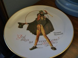 """Norman Rockwell's """"Tiny Tim"""" Collector's Edition Gorham China Collector Plate - $19.15"""