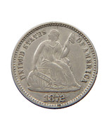 1872 Seated Liberty Half Dime - AU / Almost Uncirculated - €80,54 EUR