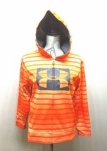Under Armour Hoodie Sweatshirt Orange Stripe Youth Large image 3