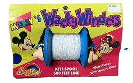 Spectra Star Vintage 1988 Mickey's Wacky Winders Kite Spool 300 Feet Lin... - $29.99