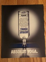 Absolut Yoga Original Ad - $3.99