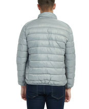 Men's Classic Lightweight Packable Stand Collar Grey Puffer Jacket Size Small image 3