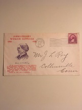 1936 Anniversary Woman Suffrage Envelope and 3 Cent Stamp  - $10.00