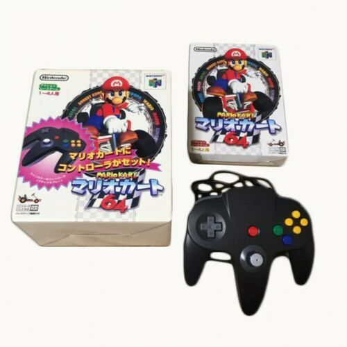 N64 Mario Kart 64 with Controller Big Box Nintendo Racing Video GAME JAPAN JP - $76.22