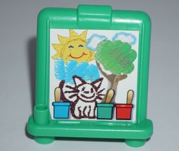 Fisher Price Little People Green Art Easel For Home House Or Preschool - $6.79