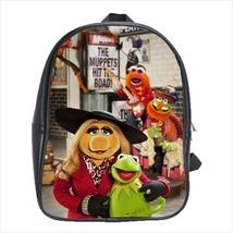 School bag muppets miss piggy kermit bookbag 3 sizes - $38.00+