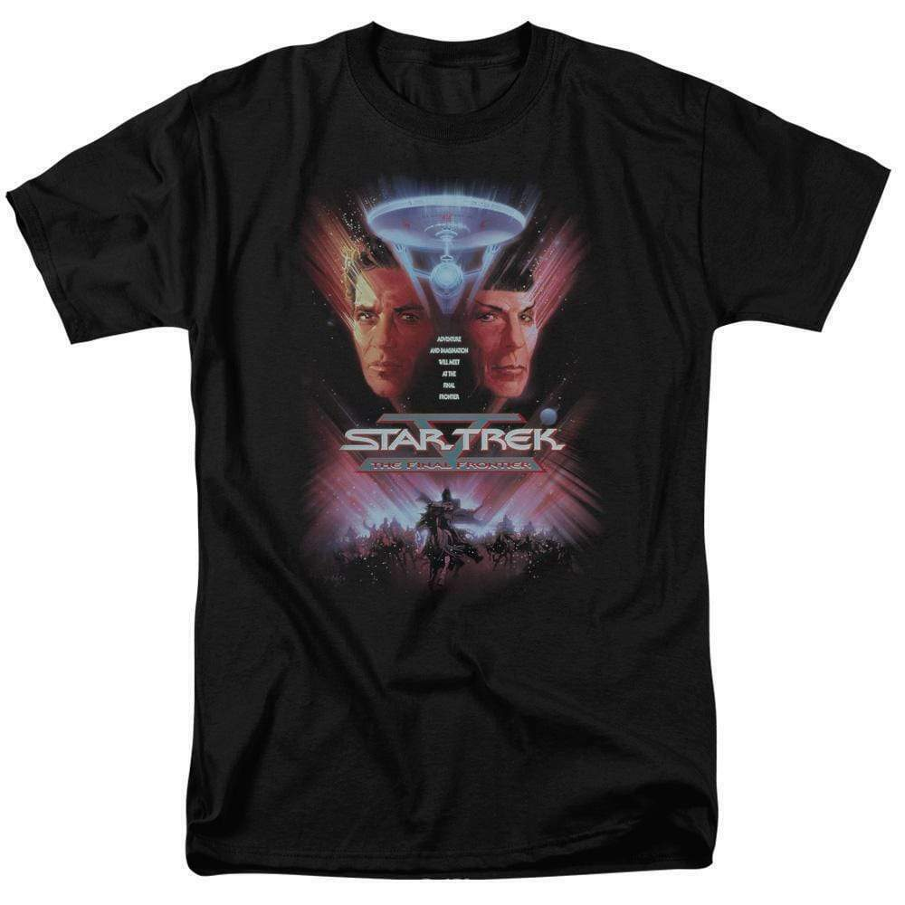 Star Trek The Final Frontier Retro 80s Sci-Fi Kirk  Spock graphic tee CBS523