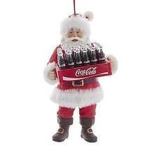COCA-COLA® SANTA HOLDING CASE OF COKE ORNAMENT w - $22.99