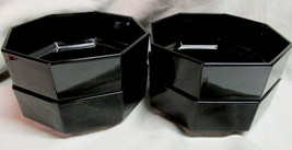 4 Arcoroc Octime Black Glass Soup Cereal Bowls ... - $24.70