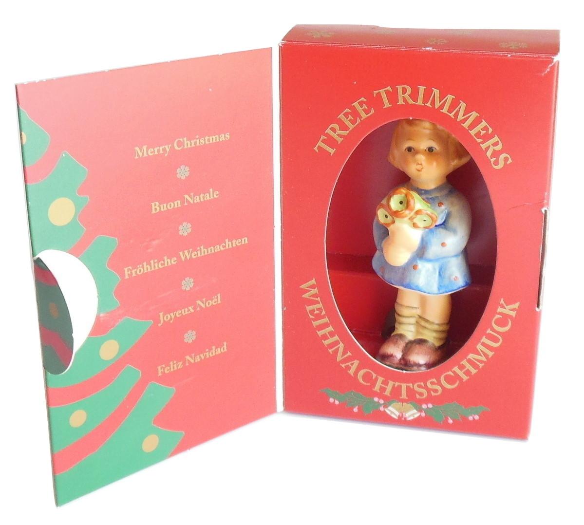 M J Hummel Goebel Germany Christmas Ornament Girl Nosegay 1207 Vintage 1997 - $19.95