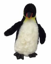 "Aurora King Emperor Penguin 9"" White Black Yellow Leather Plush Felt Sof... - $12.86"