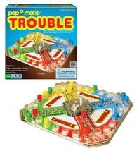 Classic Trouble Board Game, Pop-o-matic Die Roller Race To Finish 2 to 4... - $42.76