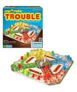 Classic Trouble Board Game, Pop-o-matic Die Roller Race To Finish 2 to 4... - $27.62