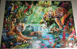 Buffalo Games Jigsaw Puzzle Tiger Lagoon 2000 Pieces 38.5 x 26.5 in. with Poster image 3
