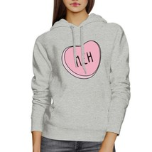 Meh Heart Unisex Gray Hoodie Lovely Graphic Cute Gift Idea For Her - $25.99+