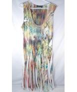 Apt 9 Snakeskin Print Sleeveless Sun Dress Boho Hippie MultiColor Womens... - $26.72