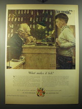 1950 The Watchmakers of Switzerland Advertisement - art by Norman Rockwell - $14.99