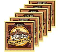 Ernie Ball 2003 Earthwood 80/20 Bronze Medium Light Acoustic Strings 6 Pack - $36.73