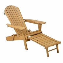 Wood Patio Chairs Folding Lounge Beach Outdoor Garden Reclinable Deck wo... - $89.91