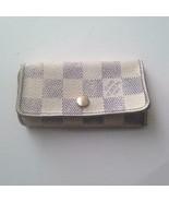 Authentic, Louis Vuitton, Damier Azuzr 4-Hooks Key Case 4.5in x 2.5in (C... - $75.95