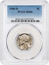 1946-D 5c PCGS MS66 - Jefferson Nickel - $33.95