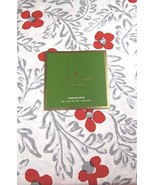 "Kate Spade Floral Blockprint Gray/Red-Orange Tablecloth 102"" Oblong - $34.00"