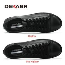 DEKABR Shoes Men Men Comfortable Breathable Genuine Fashion Casual Leather Shoes rqfwnrY4AR