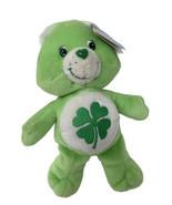 "Care Bear Good Luck Bear 8"" Plush St Patricks Day Shamrock Irish 2002 Toy - $14.99"