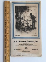 1951 A D Whitney Co School Furniture Chairs CALENDAR  Note Pad Art Va Po... - $7.96