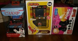 Set of 3 Retro Games Electronic Karate Champ Joust & Atari Flashback Pong + 20 - $37.61