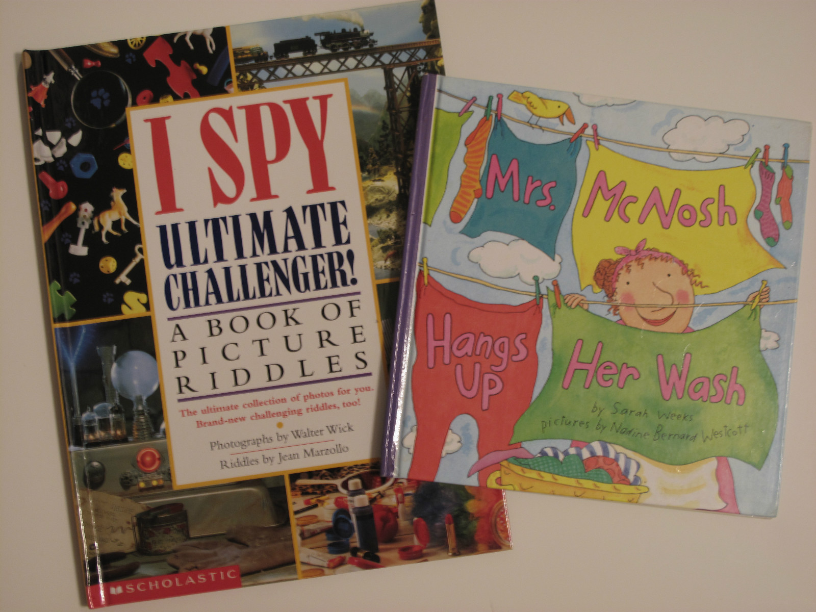 Primary image for I Spy Ultimate Challenger 2003 & Mrs. McNosh Hangs Up Her Wash 1998 Books