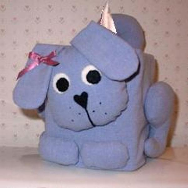 Dog Tissue Box Cover - Lite Blue