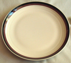 "Rare Pfaltzgraff NORTHWINDS Black Brown Rim 9 7/8"" Replacement Dinner Plate USA - $18.38"