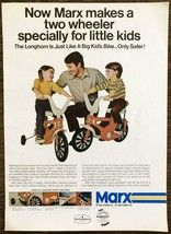 1973 Marx Longhorn Bicycle PRINT AD Just Like a Big Kid's Bike Only Safer - $10.89
