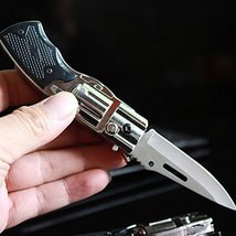 Folding Knife Windproof Refillable Butane Gas Trip Jet Flame Cigarette Lighter - image 9