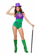 Roma Riddler Evil Mastermind Hottie Purple & Green Bodysuit Romper Costu... - $52.99