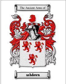 Ashdown Coat of Arms Ashdown Family Crest History Print  Bonanza