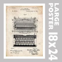 TYPEWRITER TYPE WRITER SHOLES US PATENT PRINT 1... - $18.95