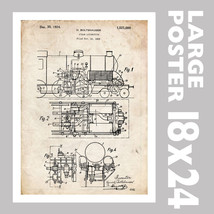 STEAM LOCOMOTIVE ENGINE BOLTSHAUSER US PATENT P... - $18.95