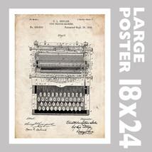 TYPEWRITER TYPE WRITER SHOLES US PATENT PRINT 1... - $24.97
