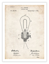 EDISON LIGHT BULB 1882 THOMAS ELECTRIC LAMP US ... - $18.95