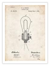 EDISON LIGHT BULB 1882 THOMAS ELECTRIC LAMP US ... - $18.95