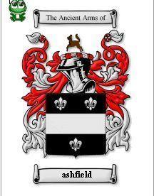 Ashfield Coat of Arms Ashfield Family Crest History Print  Bonanza