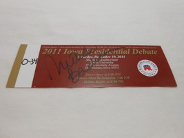 Michele Bachmann Signed 2011 Republican Presidential Debate Ticket Autog... - $63.32