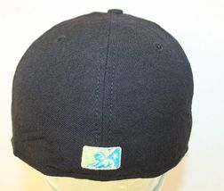 Everett WA Aquasox MiLB New Era 5950 Soggy Froggy logo Black 7 3/8 Cap Hat USA image 3